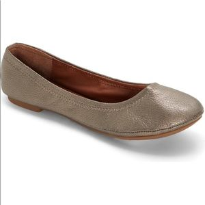 Lucky Brand Gold Emmie Flats Size 9